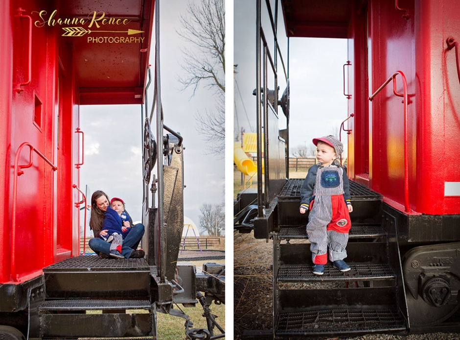 Toddler-on-a-train